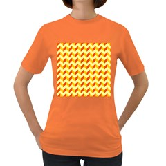 Modern Retro Chevron Patchwork Pattern  Women s T Shirt (colored) by creativemom