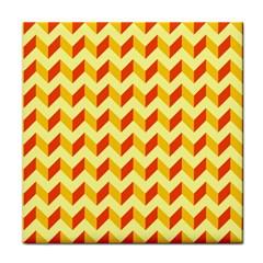 Modern Retro Chevron Patchwork Pattern  Face Towel by creativemom