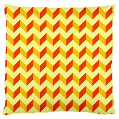 Modern Retro Chevron Patchwork Pattern  Large Cushion Case (single Sided)  by creativemom