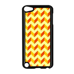 Modern Retro Chevron Patchwork Pattern  Apple Ipod Touch 5 Case (black) by creativemom