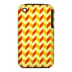 Modern Retro Chevron Patchwork Pattern  Apple Iphone 3g/3gs Hardshell Case (pc+silicone) by creativemom
