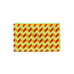 Modern Retro Chevron Patchwork Pattern  Cosmetic Bag (xs)