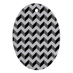 Modern Retro Chevron Patchwork Pattern  Oval Ornament (two Sides) by creativemom