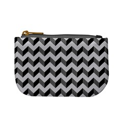 Modern Retro Chevron Patchwork Pattern  Coin Change Purse by creativemom