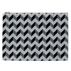 Modern Retro Chevron Patchwork Pattern  Cosmetic Bag (xxl) by creativemom
