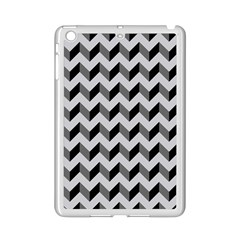 Modern Retro Chevron Patchwork Pattern  Apple Ipad Mini 2 Case (white) by creativemom
