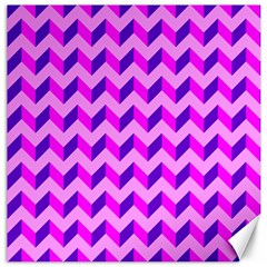 Modern Retro Chevron Patchwork Pattern Canvas 16  X 16  (unframed) by creativemom
