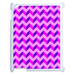 Modern Retro Chevron Patchwork Pattern Apple Ipad 2 Case (white) by creativemom