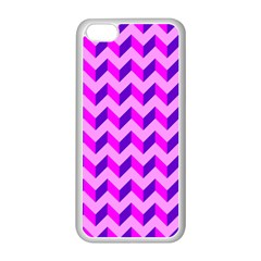 Modern Retro Chevron Patchwork Pattern Apple Iphone 5c Seamless Case (white) by creativemom