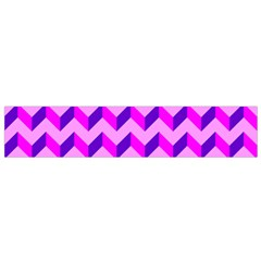 Modern Retro Chevron Patchwork Pattern Flano Scarf (Small) by creativemom