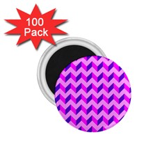 Modern Retro Chevron Patchwork Pattern 1 75  Button Magnet (100 Pack) by creativemom