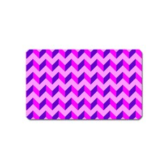 Modern Retro Chevron Patchwork Pattern Magnet (name Card) by creativemom