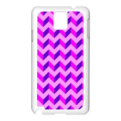 Modern Retro Chevron Patchwork Pattern Samsung Galaxy Note 3 N9005 Case (white) by creativemom