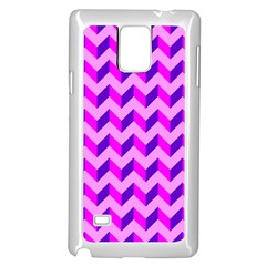 Modern Retro Chevron Patchwork Pattern Samsung Galaxy Note 4 Case (white) by creativemom
