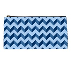 Tiffany Blue Modern Retro Chevron Patchwork Pattern Pencil Case