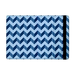 Tiffany Blue Modern Retro Chevron Patchwork Pattern Apple Ipad Mini Flip Case by creativemom