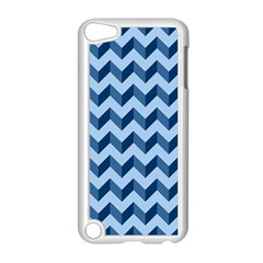 Tiffany Blue Modern Retro Chevron Patchwork Pattern Apple Ipod Touch 5 Case (white) by creativemom