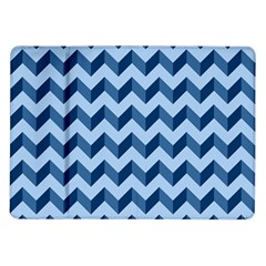 Tiffany Blue Modern Retro Chevron Patchwork Pattern Samsung Galaxy Tab 10 1  P7500 Flip Case by creativemom