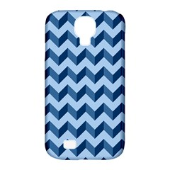 Tiffany Blue Modern Retro Chevron Patchwork Pattern Samsung Galaxy S4 Classic Hardshell Case (pc+silicone) by creativemom