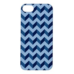 Tiffany Blue Modern Retro Chevron Patchwork Pattern Apple Iphone 5s Hardshell Case by creativemom