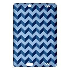 Tiffany Blue Modern Retro Chevron Patchwork Pattern Kindle Fire Hd (2013) Hardshell Case by creativemom