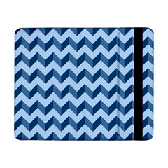 Tiffany Blue Modern Retro Chevron Patchwork Pattern Samsung Galaxy Tab Pro 8 4  Flip Case by creativemom