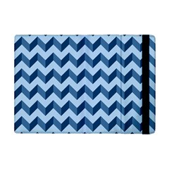 Tiffany Blue Modern Retro Chevron Patchwork Pattern Apple Ipad Mini 2 Flip Case by creativemom