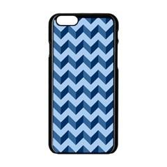 Tiffany Blue Modern Retro Chevron Patchwork Pattern Apple Iphone 6 Black Enamel Case by creativemom