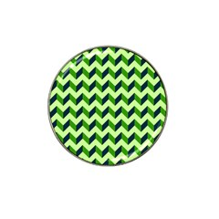Green Modern Retro Chevron Patchwork Pattern Golf Ball Marker 4 Pack (for Hat Clip) by creativemom