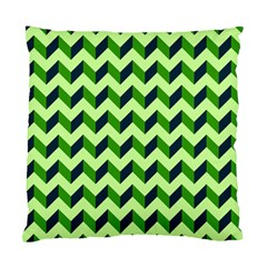 Green Modern Retro Chevron Patchwork Pattern Cushion Case (two Sided)  by creativemom
