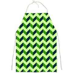 Green Modern Retro Chevron Patchwork Pattern Apron by creativemom