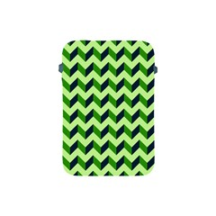 Green Modern Retro Chevron Patchwork Pattern Apple Ipad Mini Protective Sleeve by creativemom
