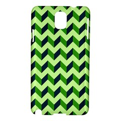 Green Modern Retro Chevron Patchwork Pattern Samsung Galaxy Note 3 N9005 Hardshell Case by creativemom