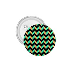 Neon and Black Modern Retro Chevron Patchwork Pattern 1.75  Button by creativemom