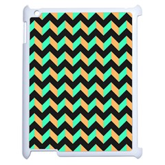 Neon And Black Modern Retro Chevron Patchwork Pattern Apple Ipad 2 Case (white) by creativemom