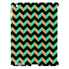 Neon And Black Modern Retro Chevron Patchwork Pattern Apple Ipad 3/4 Hardshell Case (compatible With Smart Cover) by creativemom