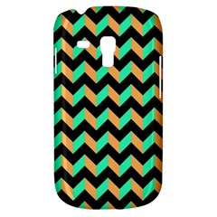 Neon And Black Modern Retro Chevron Patchwork Pattern Samsung Galaxy S3 Mini I8190 Hardshell Case by creativemom