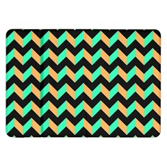 Neon And Black Modern Retro Chevron Patchwork Pattern Samsung Galaxy Tab 8 9  P7300 Flip Case by creativemom