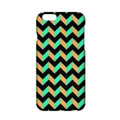 Neon And Black Modern Retro Chevron Patchwork Pattern Apple Iphone 6 Hardshell Case by creativemom