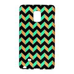 Neon And Black Modern Retro Chevron Patchwork Pattern Samsung Galaxy Note Edge Hardshell Case by creativemom