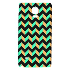 Neon And Black Modern Retro Chevron Patchwork Pattern Samsung Note 4 Hardshell Back Case
