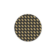 Tan Gray Modern Retro Chevron Patchwork Pattern Golf Ball Marker 4 Pack by creativemom