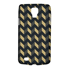 Tan Gray Modern Retro Chevron Patchwork Pattern Samsung Galaxy S4 Active (i9295) Hardshell Case by creativemom