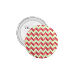 Mint Pink Modern Retro Chevron Patchwork Pattern 1 75  Button by creativemom