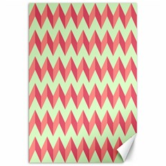 Mint Pink Modern Retro Chevron Patchwork Pattern Canvas 20  X 30  (unframed) by creativemom