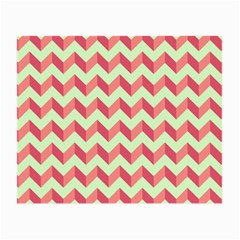 Mint Pink Modern Retro Chevron Patchwork Pattern Glasses Cloth (small, Two Sided) by creativemom