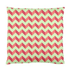 Mint Pink Modern Retro Chevron Patchwork Pattern Cushion Case (two Sided)