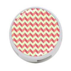 Mint Pink Modern Retro Chevron Patchwork Pattern 4-Port USB Hub (Two Sides) by creativemom