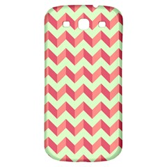 Mint Pink Modern Retro Chevron Patchwork Pattern Samsung Galaxy S3 S Iii Classic Hardshell Back Case by creativemom