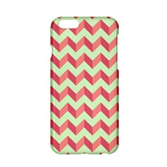 Mint Pink Modern Retro Chevron Patchwork Pattern Apple Iphone 6 Hardshell Case by creativemom
